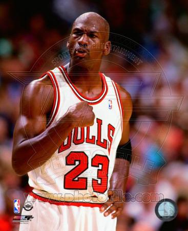 Michael Jordan fist salute photo poster of 1994-1995 NBA season