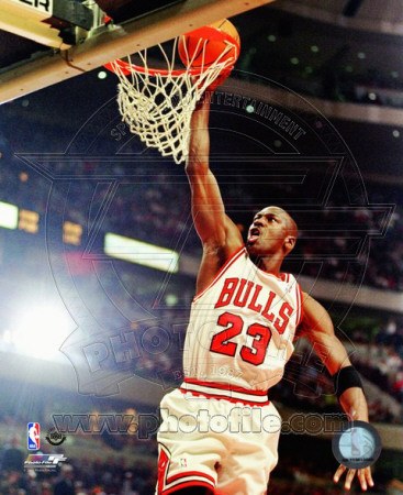 Michael Jordan dunking, basketball photo poster of 1997-1998 season
