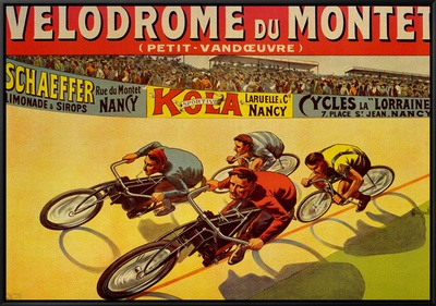 Velodrome du Mont Framed Canvas Print by Marcellin Auzolle