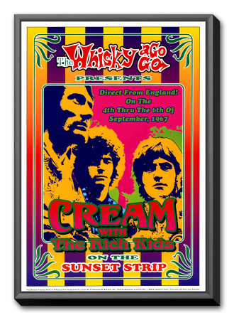 Cream at the Whiskey A-Go-Go Framed Canvas Print by Dennis Loren