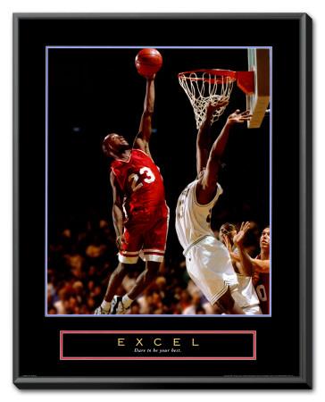 Excel: Basketball Framed Canvas Print