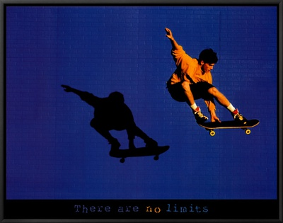 No Limits Skateboarder Framed Canvas Print