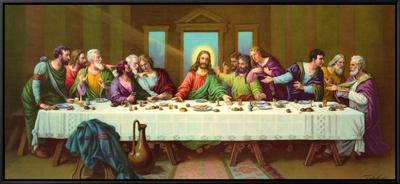 Heiliges Abendmahl Framed Canvas Print