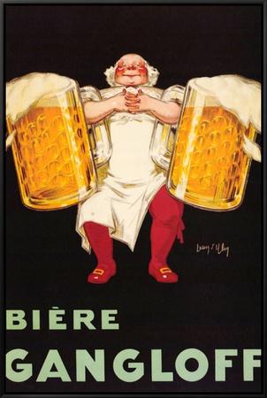 Biere Gangloff Framed Canvas Print by Jean D' Ylen