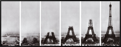 Tour Eiffel Framed Canvas Print