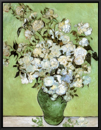 A Vase of Roses, c.1890 Framed Canvas Print
