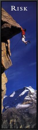 Risk: Cliffhanger Framed Canvas Print