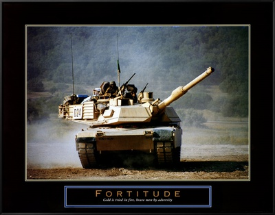 Fortitude: Tank on the Move Framed Canvas Print by Jerry Angelica