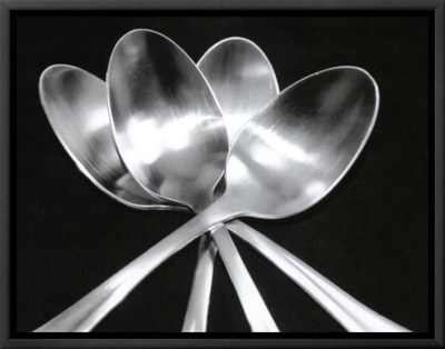Spoons Framed Canvas Print by Mike Feeley
