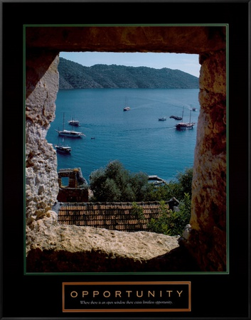 Opportunity Framed Canvas Print