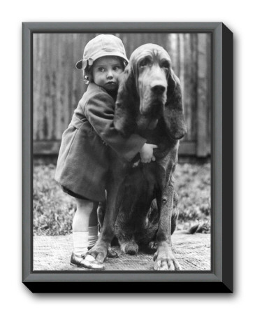 Girl's Best Friend Framed Canvas Print
