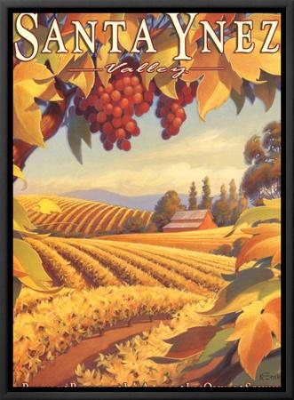 Santa Ynez Valley Framed Canvas Print by Kerne Erickson