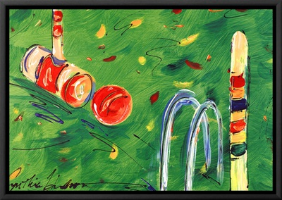 Croquet Framed Canvas Print by Cynthia Hudson