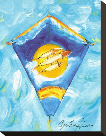 Kite Stretched Canvas Print by Cynthia Hudson