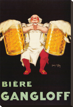 Biere Gangloff Stretched Canvas Print by Jean D' Ylen