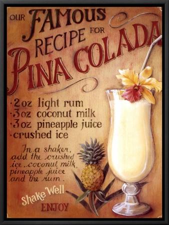 Pina Colada Framed Canvas Print by Lisa Audit