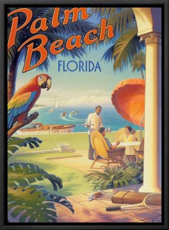 Palm Beach, Florida Framed Canvas Print by Kerne Erickson