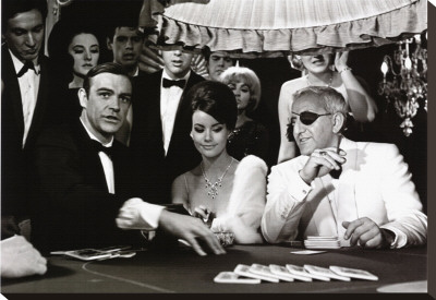 James Bond at the Casino, Thunderball Stretched Canvas Print