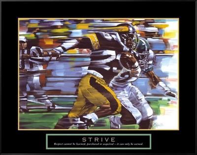 Strive: Football Framed Canvas Print by Bill Hall