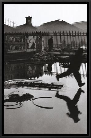 Derriere la Gare Saint-Lazare, Paris Framed Canvas Print by Henri Cartier-Bresson