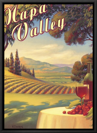 Napa Valley Framed Canvas Print by Kerne Erickson