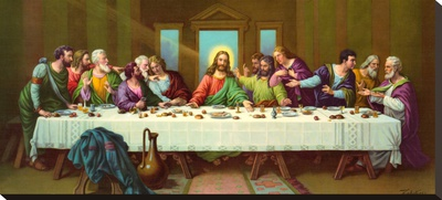 Heiliges Abendmahl Stretched Canvas Print