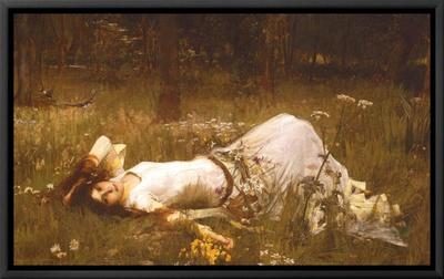 Ophelia, c.1889 Framed Canvas Print