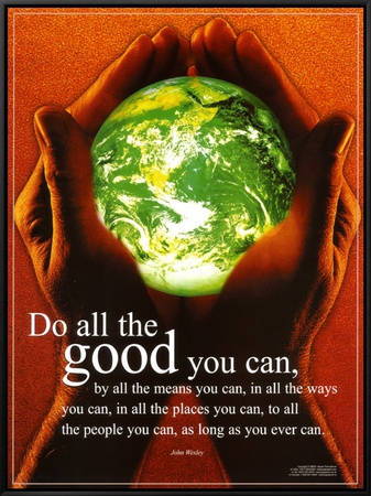 Do All The Good You Can Framed Canvas Print