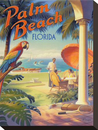 Palm Beach, Florida Stretched Canvas Print by Kerne Erickson
