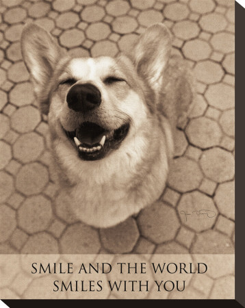 Smile and the World Smiles with You Stretched Canvas Print by Jim Dratfield