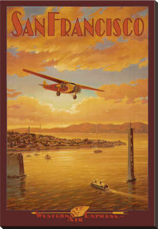 Western Air Express, San Francisco, California Stretched Canvas Print by Kerne Erickson