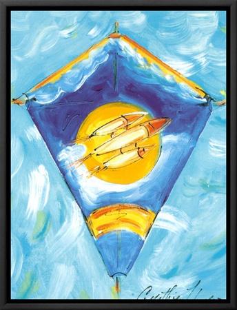 Kite Framed Canvas Print by Cynthia Hudson