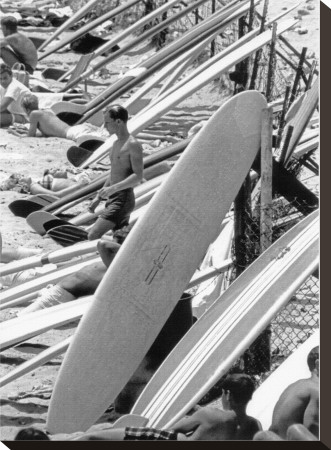 Breaktime, 1964 Stretched Canvas Print by Leroy Grannis