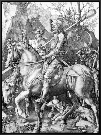 The Knight, Death and The Devil , c.1514 Framed Canvas Print by Albrecht Dürer