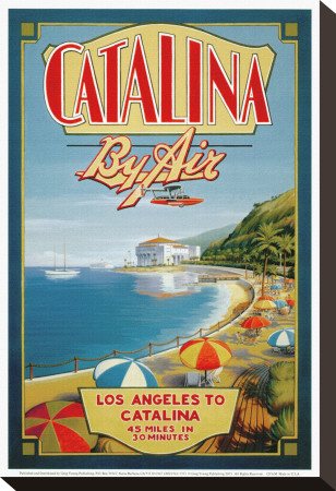 Catalina by Air Stretched Canvas Print by Kerne Erickson