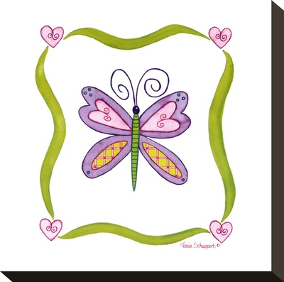 Lovebugs, Butterfly Stretched Canvas Print by Tania Schuppert