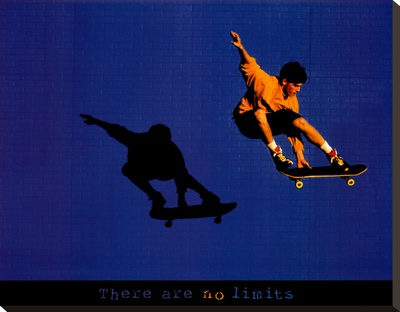 No Limits Skateboarder Stretched Canvas Print