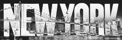 New York - typeface Türposter