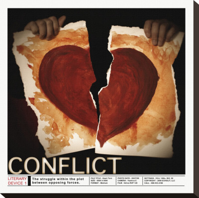 Literary Devices: Conflict Stretched Canvas Print by Jeanne Stevenson