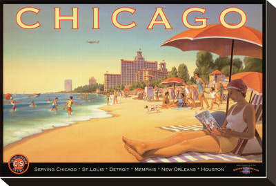 Chicago and Southern Air Stretched Canvas Print by Kerne Erickson