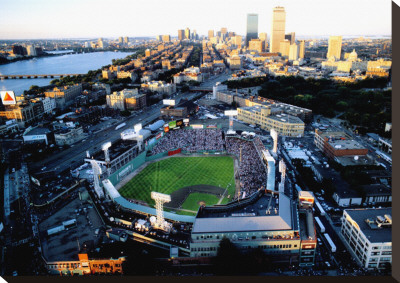 Boston - All Star Game at Fenway Stretched Canvas Print by Mike Smith