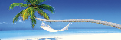 Beach - hammock morning Pôster para porta