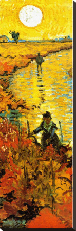 The Red Vineyard at Arles, c.1888 (detail) Stretched Canvas Print