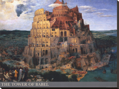 The Tower of Babel, c.1563 Stretched Canvas Print by Pieter Bruegel the Elder