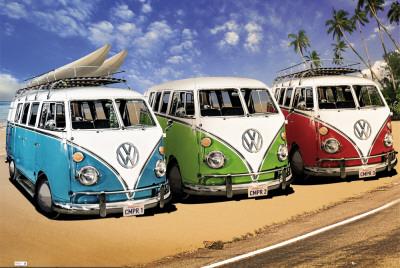 VW CAMPERS Plakat