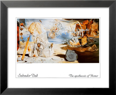 The Apotheosis of Homer Lamina Framed Art Print