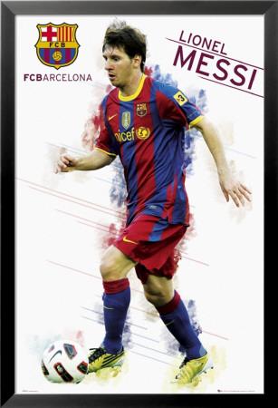 Barcelona   Messi Gelamineerd Ingelijste Poster