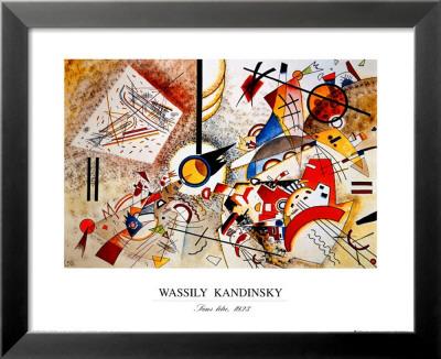 Aquarell voller Leben, ca. 1923 Kunstdrucke von Wassily Kandinsky
