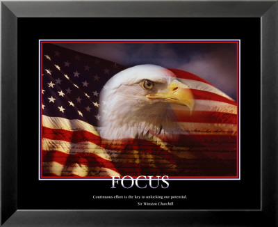 Patriotic Focus Lamina Framed Art Print
