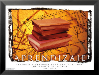 Aprendizaje- Learning Lamina Framed Art Print